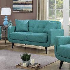 Found it at AllModern - Hailey Modular Loveseat Room Interior Colour, Interior Design, Teal Sofa, Mcm House, Wood Sofa, Soft Seating, Sofa Sale, Home Decor Kitchen, Home Living Room
