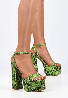 Sandale cu toc Miami V1 Verzi