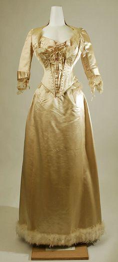 Evening dress Date: 1885–87 Culture: American