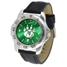 """Northwest Missouri State Bearcats NCAA AnoChrome """"Sport"""" Mens Watch (Leather Band) by SunTime. $53.10. Scratch Resistant Face. Calendar Date Function. Rotation Bezel/Timer. This handsome, eye-catching watch comes with a genuine leather strap. A date calendar function plus a rotating bezel/timer circles the scratch-resistant crystal. Sport the bold, colorful, high quality logo with pride. The AnoChrome dial option increases the visual impact of any watch with a stunning r..."""