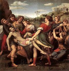 Traslado de Critso Muerto  Fecha: 1507  Movimiento: Renacimiento  Técnica: Óleo sobre tabla  Museo: Galería Borghese  Lugar: Roma, Italia