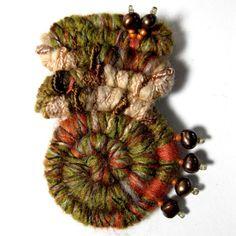 Brooch...unusual fiber art, but I love it!