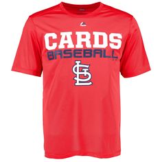 St. Louis Cardinals Majestic Feel the Pressure T-Shirt - Red - $23.99