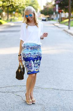 Scenic Pencil Skirt - A PIECE of TOAST // Lifestyle + Fashion Blog // Dallas