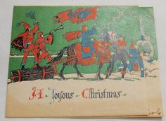 Vintage 1950's Christmas Cards Lot of 4 Cards by ilovevintagestuff, $2.99