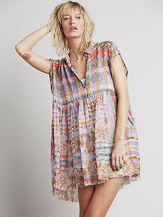 Free People Empire Extreme Shirt Dress at Free People Clothing Boutique