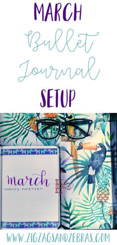 March Bullet Journal Setup – ZigZags and Zebras - February Bullet Journal Daily Bullet Journal, Creating A Bullet Journal, February Bullet Journal, Bullet Journal Headers, Bullet Journal Tracker, Bullet Journal How To Start A, Bullet Journal Junkies, Bullet Journal Layout, Bullet Journal Inspiration
