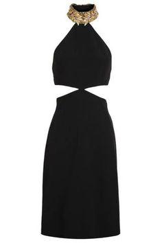 Alexander McQueen Halter-Neck Crepe Dress, $3,797; brownsfashion.com