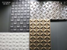 24 New Textiles and Wallcoverings On Our Radar | Up ceramic wall tile by Saloni Cerámica through Tile of Spain. #design #interiordesignmagazine #interiordesign #textiles #wallcoverings