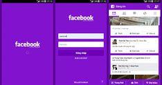تحميل تطبيق فيس بوك معدل بـ 6 الوان رائعه للاندرويد Red Green Yellow, Pink Purple, Facebook Green
