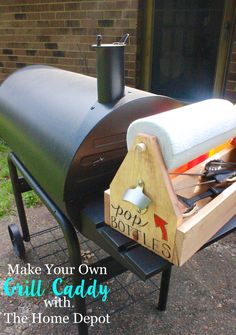 How to Make A Caddy for Your Grill Stuff