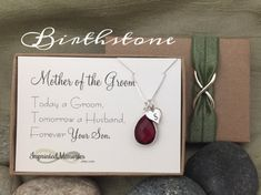 Mother of the Groom Necklace From Groom  by ImprintedMemories