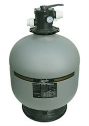 Jandy SFTM25 Top-Mount Sand Filter Jandy's SFTM sand filter has a unique internal design that produces superior flow and efficient operation. Features include: corrosion and UV resistant thermoplastic tank construction, 7-position dial valve, combination sand and water drain, automatic internal air relief and quick-connect unions.