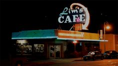 Lims Cafe Neon Sign by Skip Murphy