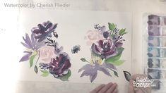 Painting Romantic Dreamy Watercolor Florals