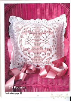 "Photo from album ""Crochet Creations on Yandex. Crochet Cushion Cover, Crochet Cushions, Crochet Pillow, Filet Crochet Charts, Crochet Diagram, Crochet Stitches, Crochet Lace Edging, Love Crochet, Crochet Doilies"