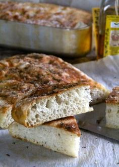 Mat på Bordet: 3 varianter av no knead focaccia Norwegian Food, Norwegian Recipes, No Knead Bread, Tapas, Banana Bread, Bacon, Muffins, Food And Drink, Sweets