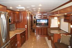 Our Motorhome...Inside view.  This is not roughing it!
