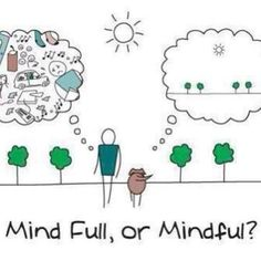 Mindfulness mindfulness mindfulness. Be present in the present. It's the only thing we truly have!