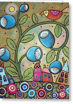 Tulip Town Greeting Card by Karla Gerard
