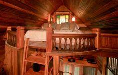 Tiny Victorian Home Bed Loft