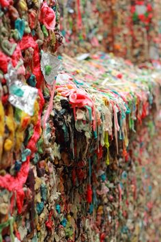 Gum wall, Seattle, muestra creativa del enfoque selectivo, nuevos conocimientos gracias a las clases de Foto