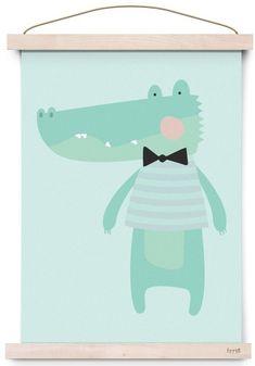 Eef Lillemor poster sweet animals croco 29.7 x 42 cm
