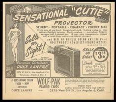 1950 Pinup Girl Art Cutie Peep Show Projector Vintage Trade Print Ad   eBay