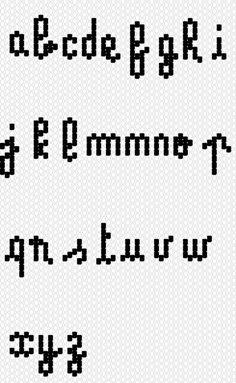Tutoriel diagramme alphabet tissage lettres brick stitch perles miyuki