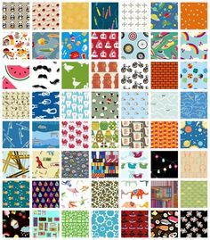 """$38.00  5"""" cut squares ready for an I Spy quilt"""