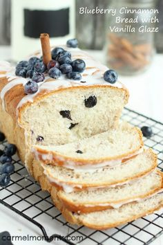 Blueberry Cinnamon Bread by Carmel Moments with 6 other Healthy Breakfast Ideas