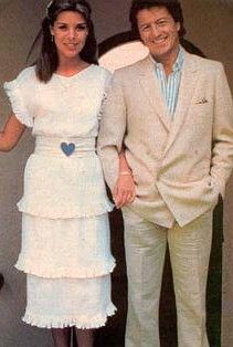 Princess Caroline of Monaco and her first husband, Phillipe Junot. Her parents strongly disapproved of the match, but Caroline was determined to marry him. They divorced after two years.