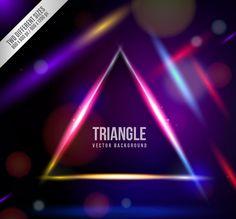 幻彩三角形背景矢量素材