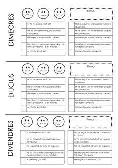 Informe de comportament Grade 1, Bullet Journal, Teaching, Names, Classroom Management, Conflict Resolution, Educational Activities, Behavior, Initials