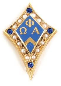 Omega Phi Alpha --- pretty sure my active pin does not look like this! Where is my blinged out pin?