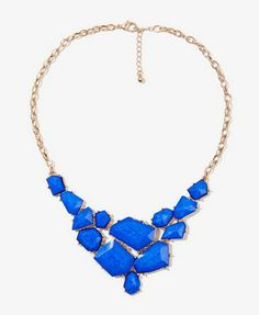 Faceted Faux Stone Bib Necklace | FOREVER21 - 1022050930
