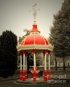 Richard Russell Fountain by Felikss Veilands Fountain, Gazebo, Ireland, Outdoor Structures, Wall Art, Photography, Kiosk, Photograph, Pavilion