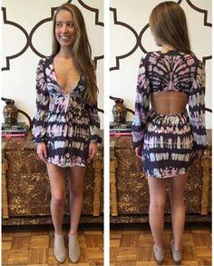 BLUE LIFE TWIST FRONT DRESS OMBRE PARFAIT www.splashtribe.com