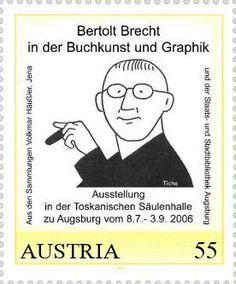 Hans Ticha: meine erste Brecht-Briefmarke