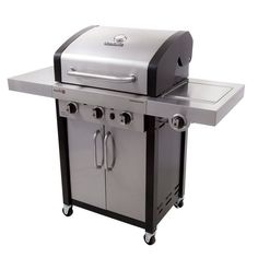 Char Broil Professional IR 420 3 Burner Gas Grill With Cabinet   463367016