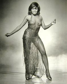 """Tina Turner in Bob Mackie. """" """"The first time I saw her,"""" recalls Mackie of meeting Turner in the mid-Seventies, """"she had on a beautiful man-tailored silk blouse, gabardine pants and alligator loafers. So opposite to anything that we thought of as Tina Turner at the time."""" Nor did it really scream Bob Mackie. Thankfully, designer and singer saw eye to eye — or perhaps sequin to sequin — when Mackie was enlisted to outfit the star for her appearances on """"The Sonny and Cher Show."""" """""""