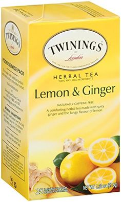 Twinings Herbal Tea Lemon and Ginger 25 Count Bagged Tea 6 Pack * Be sure to check out this awesome product. Note: It's an affiliate link to Amazon.