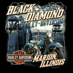 Sometimes the gets dark. Former Federal Penetentiary. With a subtle license plate typeface snuck in there. These different pieces are so fun to research. Harley Davidson Night Rod, Harley Davidson Logo, Harley Davidson Dealership, Harley Davidson Pictures, Harley Davidson Motorcycles, Steve Harley, Harley Davidson Kleidung, Harley T Shirts, Harley Dealer