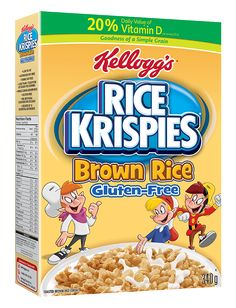 Cereals & Breakfast Foods Kellogg's Rice Krispies Gluten Free Cereal, Whole Grain Brown Rice & Garden Gluten Free Rice Krispies, Gluten Free Cereal, Whole Grain Brown Rice, Easy To Make Snacks, Fodmap Diet, Low Fodmap, Slim Fast, Breakfast Options, Gluten Free Breakfasts