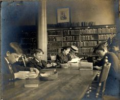 The children's reading room in the old library Photo from the Burton Historical Collection Detroit Public Library  - Old photos — Historic Detroit