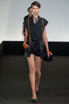 Super skinny suspenders. Hermès Spring 2013 xoxo, k2obykarenko.com