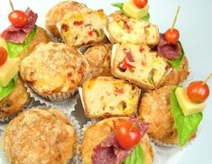 Baked Potato, Potato Salad, Food And Drink, Cheese, Breakfast, Ethnic Recipes, Party, Christmas, Savory Muffins