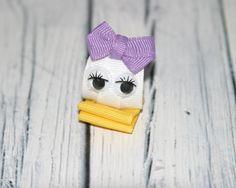 Daisy Duck Ribbon Sculpture Hair Clip, Daisy Duck Hair Clip, Ribbon Sculpture