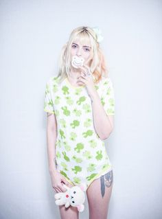 Green Frogs Snap Crotch Onesie