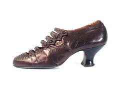 1905-15 Metallic Beaded Louis Heeled Pumps, USA